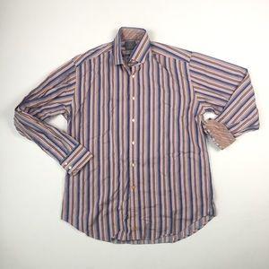 Thomas Dean Mens Dress Shirt L B7006